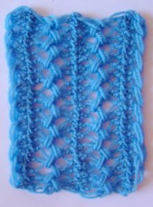 Hairpin lace swatch for a stole
