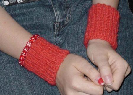 Orange wristers