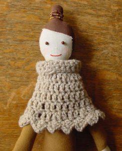 Una-na doll with ponchette