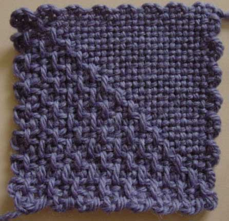 Weavette square in diagonal half square design