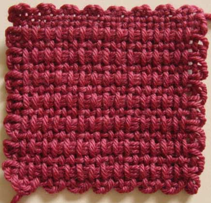 Weavette square in ribbing design