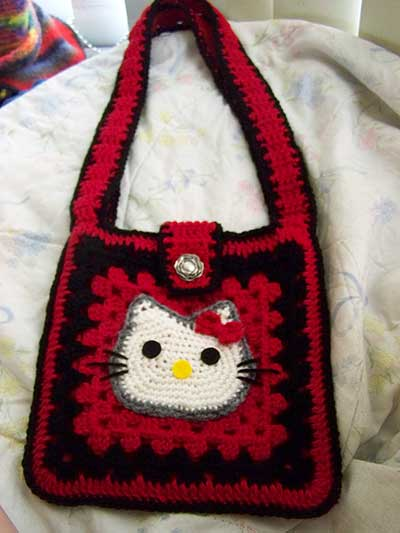 Finished Hello Kitty purse