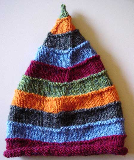 Handspun stocking cap for a baby