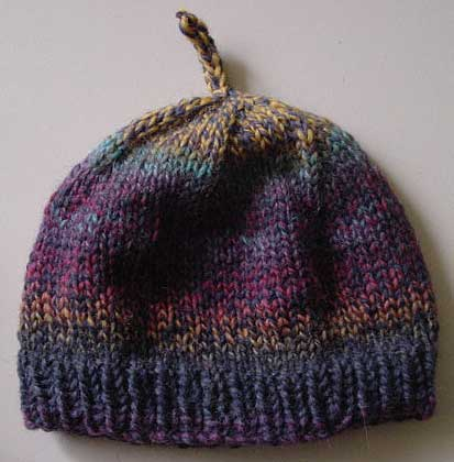 Knut hat knit with Cleckheaton vintage hues