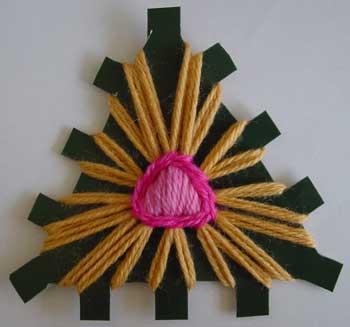 A triangle loom