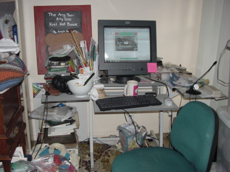 My fabulously messy desk