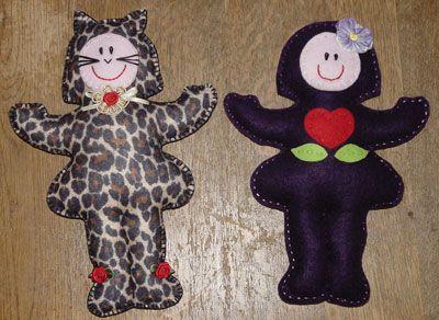Felt Betsy dolls