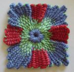 A Mini Gallery of Woven Loomed Flowers on Various Sized & Shaped Looms