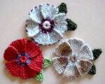 Woven Loomed Flowers with Leaves
