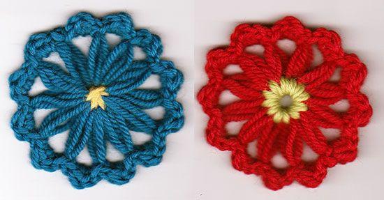 Shell Stitch Flowers