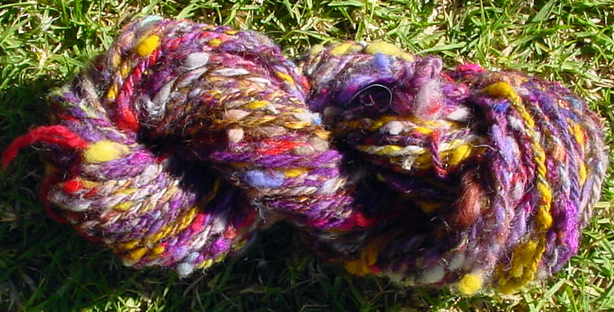 Bulky thick and thin handspun