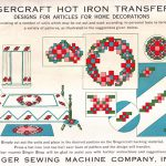 Singercraft Designs for Articles for Home Decorations – Transfer F