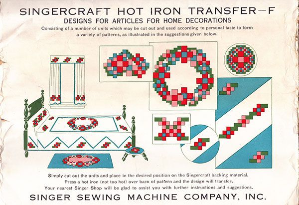 Singercraft Guide hot iron transfer F
