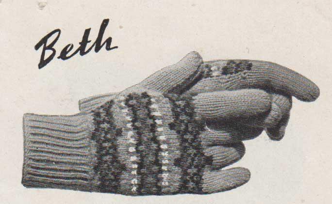 Beth Fairisle gloves knit on 2 needles