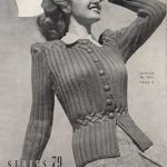 Carefree Vintage Jacket with Smocked Waist