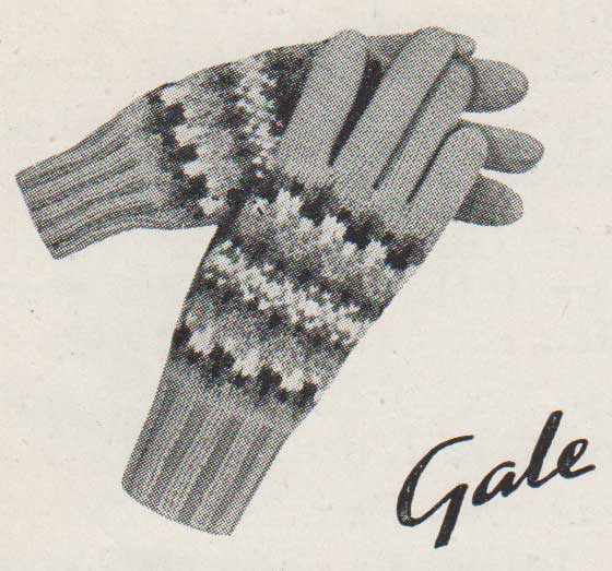 Gale, fair-isle gloves for little girsl knit flat on two needles