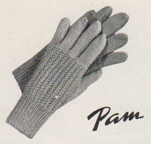 Pam, gloves for little girls aged 5 to 7