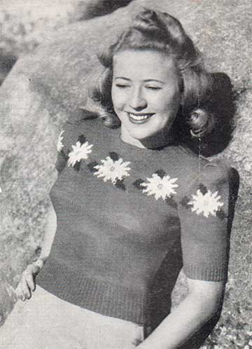 Marguerite pullover with flowers