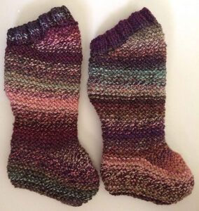 Baby legs from Homespun Hand Knit