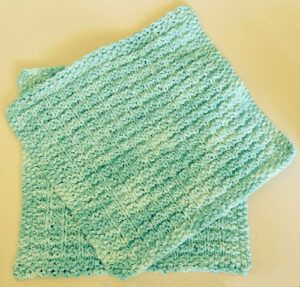 Knitted spa day washcloths
