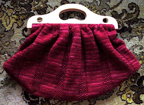 Vintage style work bag with free knitting pattern
