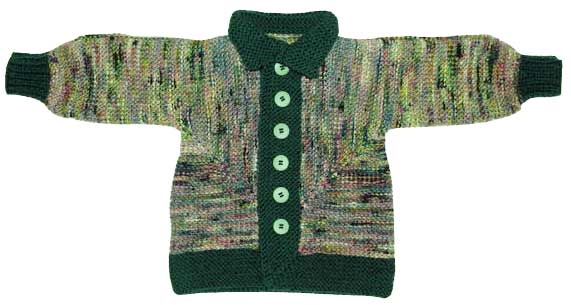 Baby surprise jacket with blouson sleeves