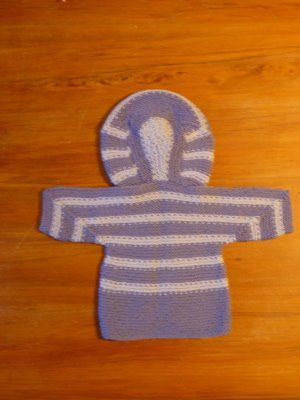 Back of the baby surprise jacket with hood