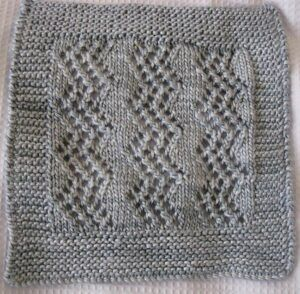 Sample for Beautiful Pattern for a Shetland Shawl, knit with garter stitch border