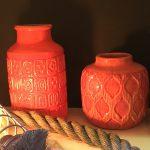 Orange glazed ceramics