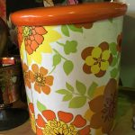 Vintage floral tin from the 1970's