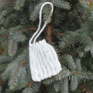 Another Pretty Pattern for a Knit Purse - sample