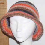 Knit and felt cloche