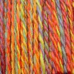 Close Up of the Rainbow Yarn