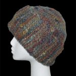 Sideways garter stitch hat