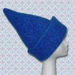Knit and felt wizard hat