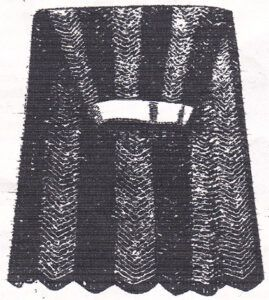 Arrow pattern skirt from Home Work, published in 1891