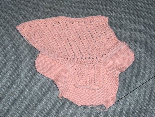 A Pretty Pattern for a Baby's Shoe before seaming