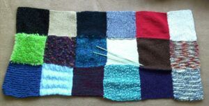 Patchwork blanket in progress