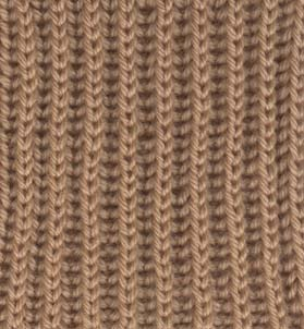 Sample of brioche stitch