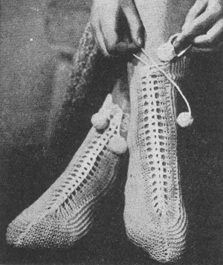 Cosy Bed Socks Knitting And