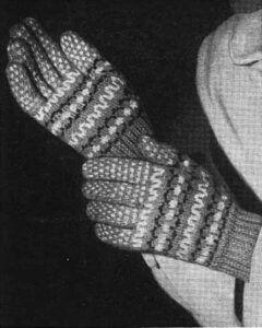 Fancy free fair-isle gloves