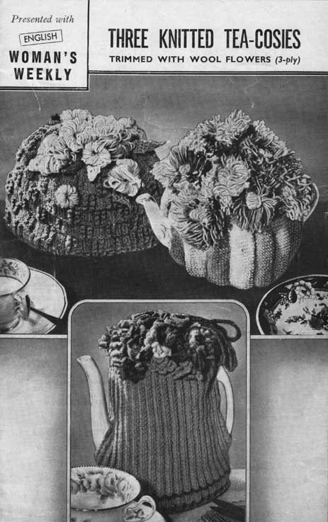Three Floral Tea Cosies Knitting And