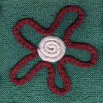 Oddball Sampler Afghan Square #28: I-cord Flower