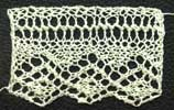 Three repeats of gowrie lace from Home Work, published 1891