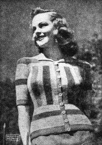 Gwen, vintage striped cardigan