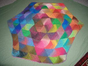 Hexagon triangles by Mary Lee Herrick