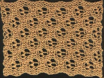 Honeycomb pattern no 1 from Home Work, 1891