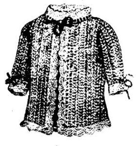 Infant's lace jacket from 1891