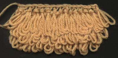 Sample of loop knitting