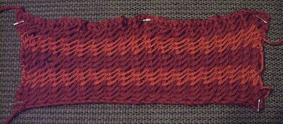 "Sample for ""for another comforter"" from Cornelia Mee's exercises in knitting"